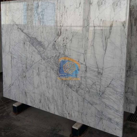 Black marble slabs wild wave